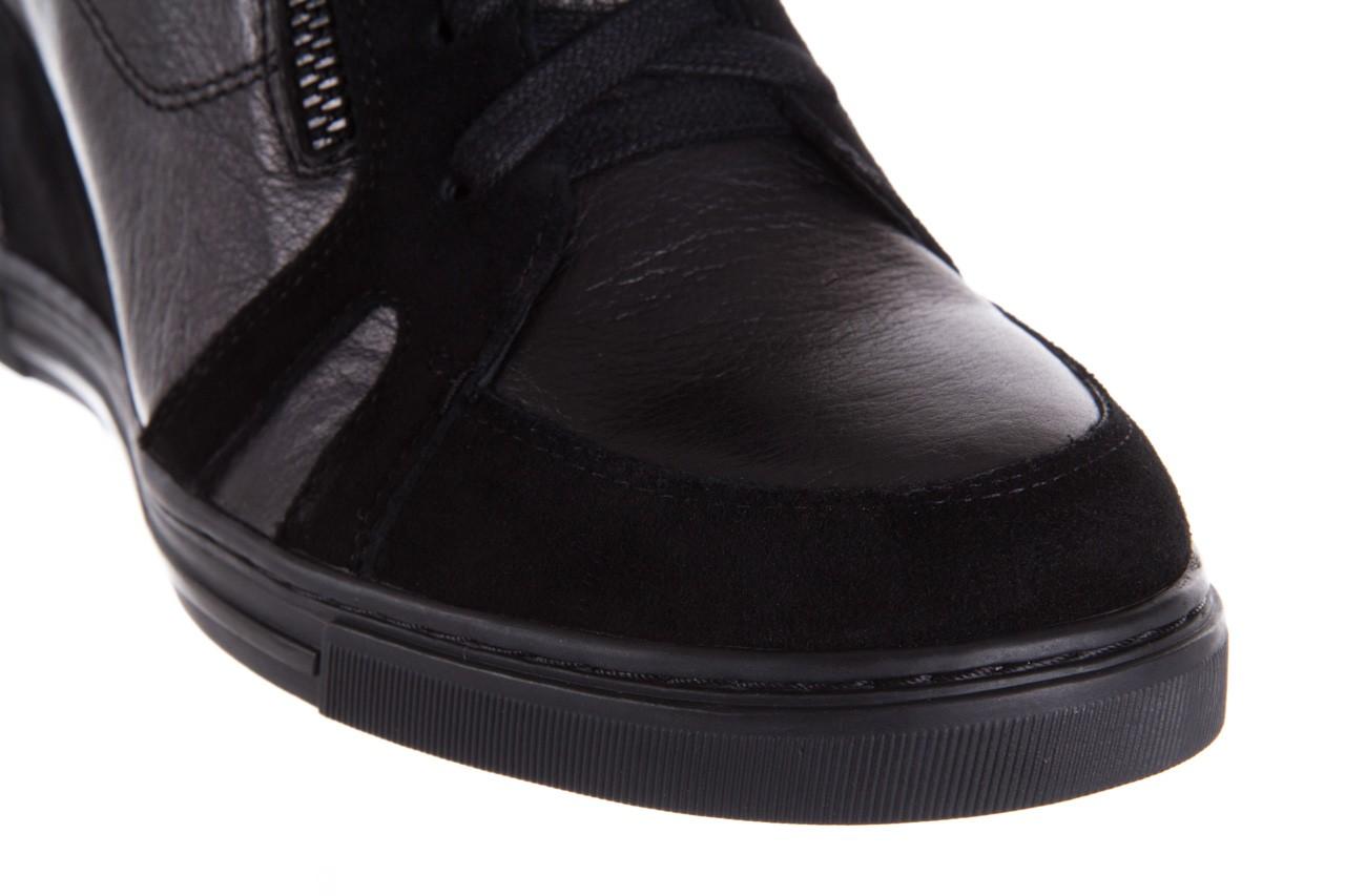 Sneakersy bayla-144 ps508h-75-1n black 17, czarny, skóra naturalna 12
