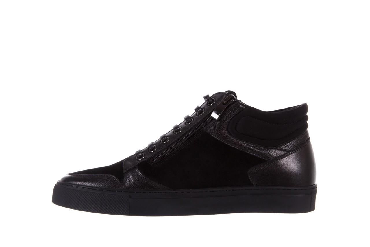 Trampki bayla-151 d151429-50a black, czarny, skóra naturalna  - bayla exclusive - trendy - mężczyzna 8