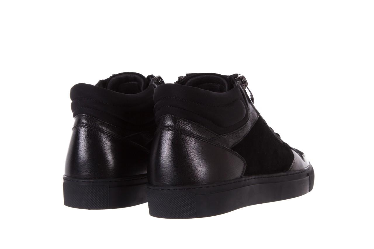 Trampki bayla-151 d151429-50a black, czarny, skóra naturalna  - bayla exclusive - trendy - mężczyzna 9