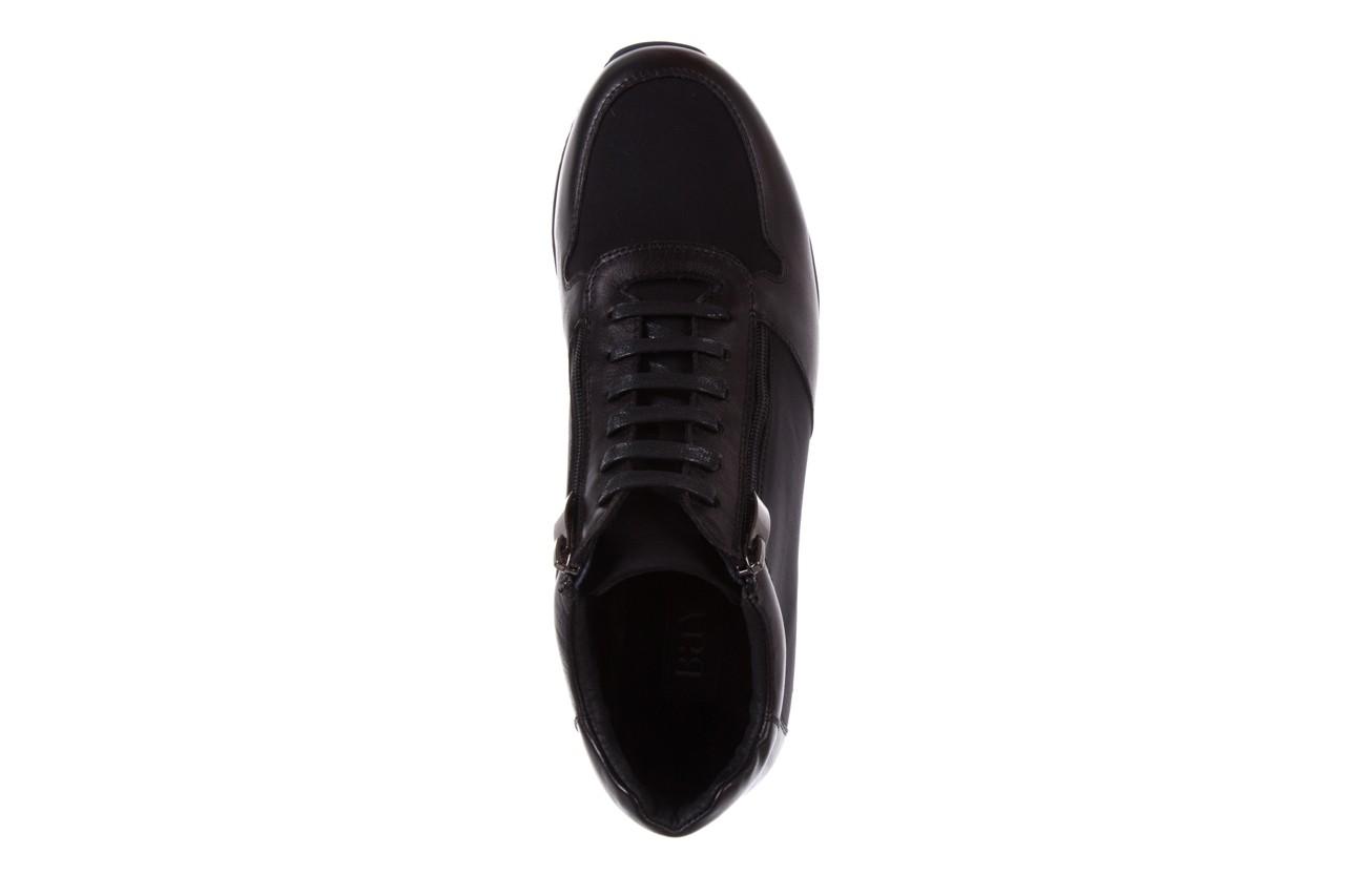 Trampki bayla-151 d151431-6a black, czarny, skóra naturalna/ neopren  - trzewiki - dla niego - sale 11