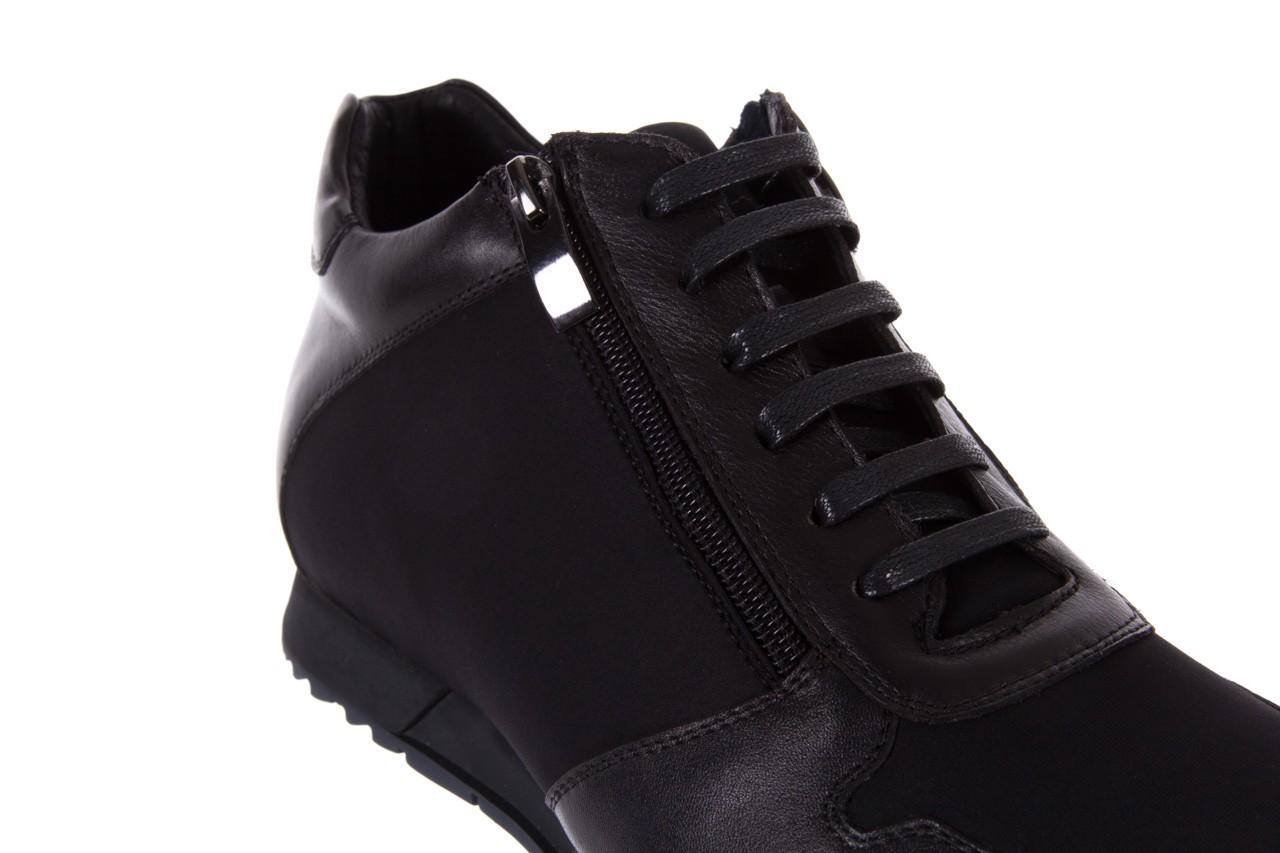 Trampki bayla-151 d151431-6a black, czarny, skóra naturalna/ neopren  - trzewiki - dla niego - sale 12