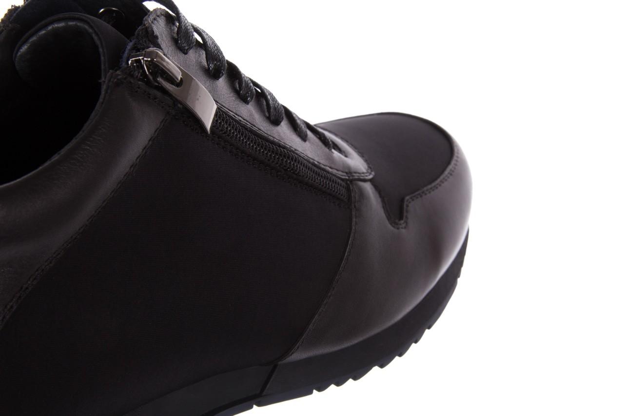 Trampki bayla-151 d151431-6a black, czarny, skóra naturalna/ neopren  - trzewiki - dla niego - sale 13