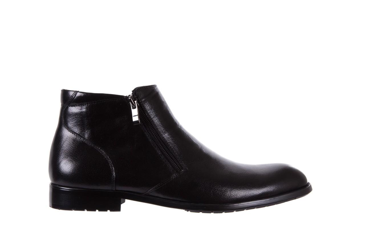 Trzewiki bayla-151 t33yd10-3a black, czarny, skóra naturalna  - wizytowe - trzewiki - buty męskie - mężczyzna 7