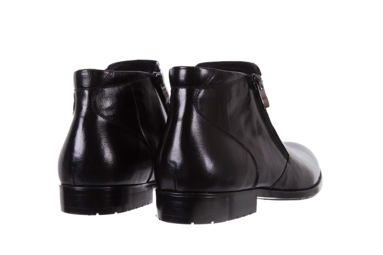 Trzewiki bayla-151 t33yd10-3a black, czarny, skóra naturalna  - wizytowe - trzewiki - buty męskie - mężczyzna 10