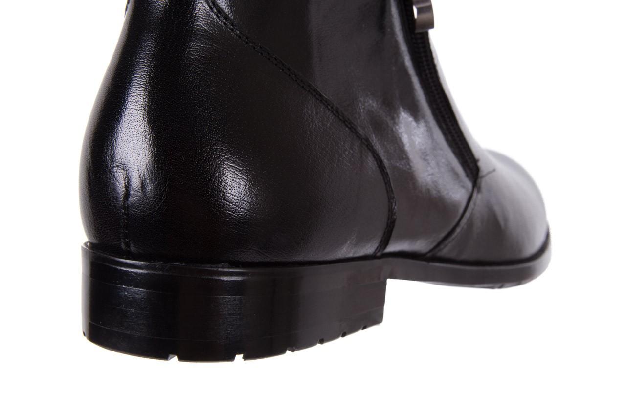 Trzewiki bayla-151 t33yd10-3a black, czarny, skóra naturalna  - wizytowe - trzewiki - buty męskie - mężczyzna 12