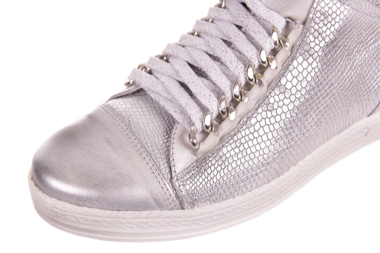 Trampki bayla-154 w-742a srebro, skóra naturalna  - trampki - buty damskie - kobieta 9