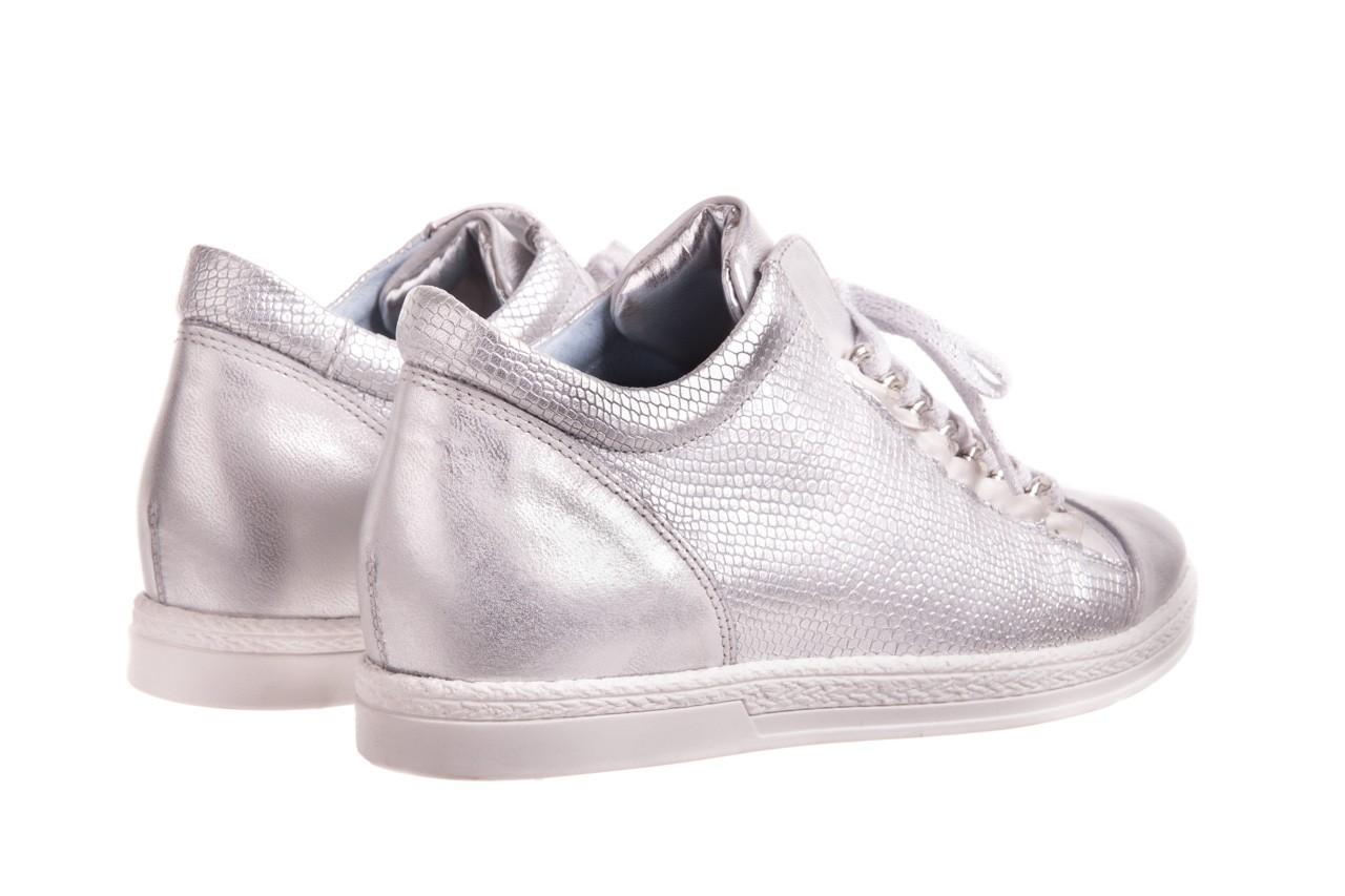 Trampki bayla-154 w-742a srebro, skóra naturalna  - trampki - buty damskie - kobieta 7