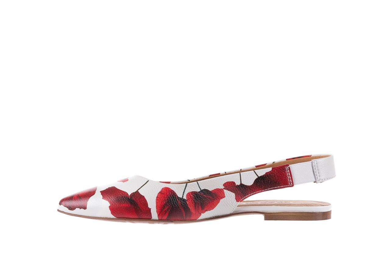 Sandały bayla-156 1794 biały maki, skóra naturalna 9