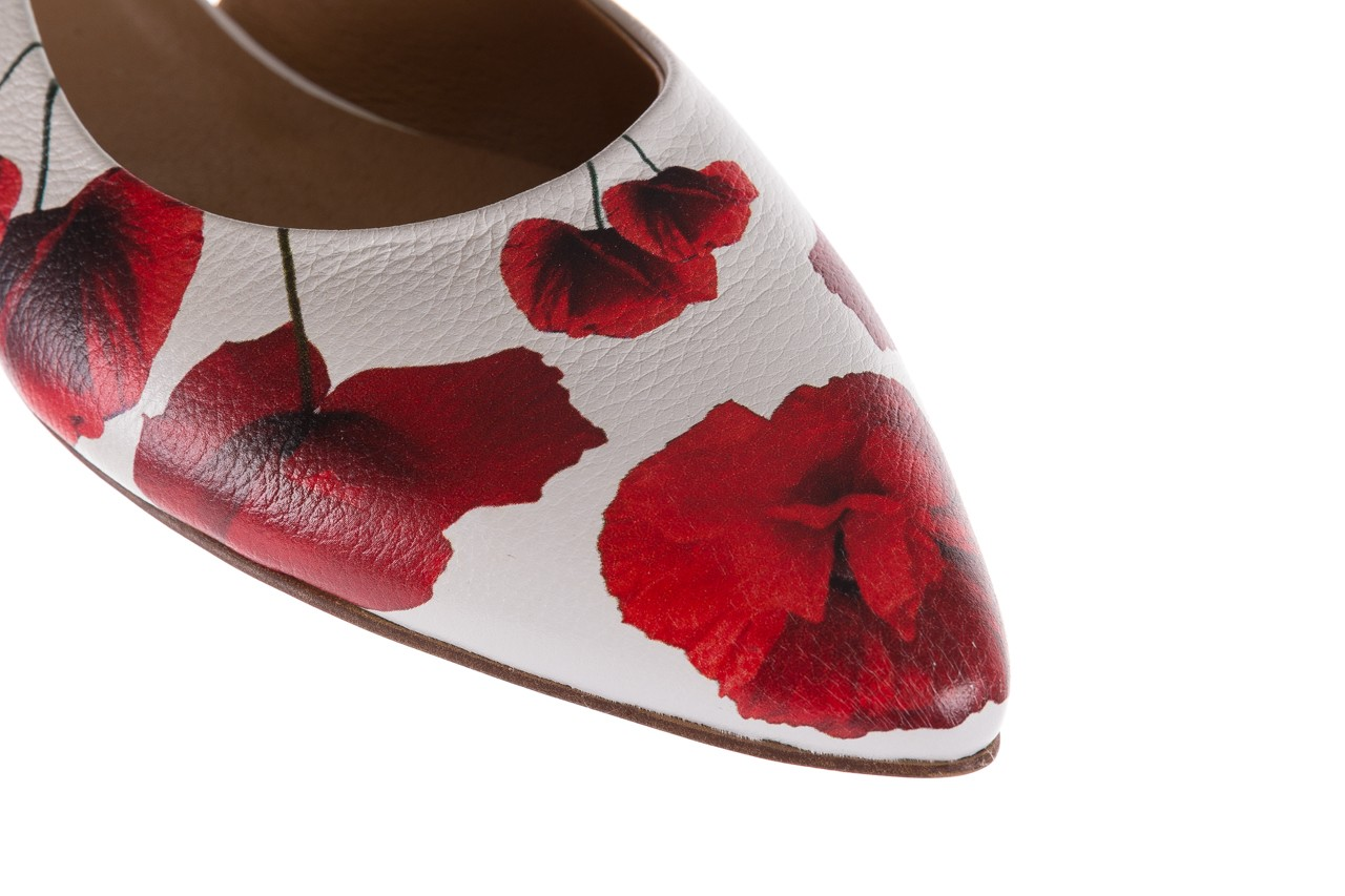 Sandały bayla-156 1794 biały maki, skóra naturalna 12