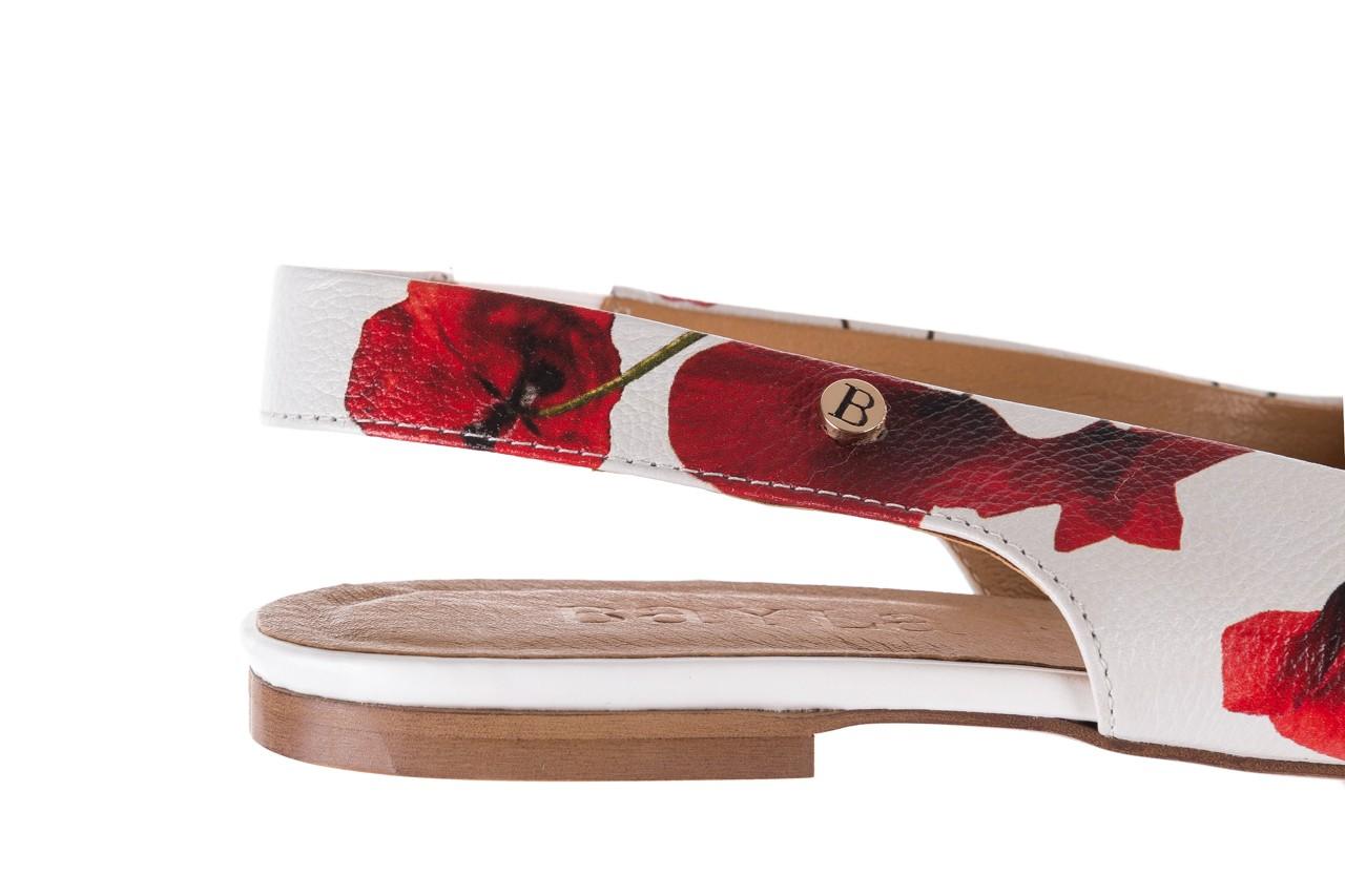 Sandały bayla-156 1794 biały maki, skóra naturalna 13