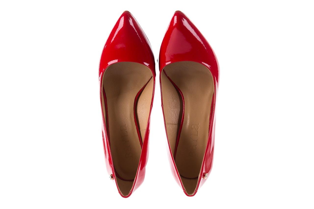 Czółenka bayla-156 2534 czerwony, skóra naturalna lakierowana  - bayla - nasze marki 10