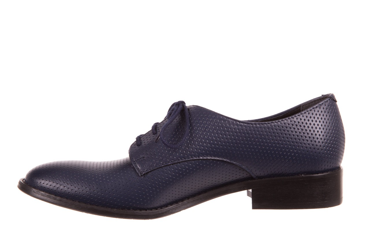 Półbuty bayla-156 3301 mustang oceano ł7, granat, skóra naturalna  - sznurowane - półbuty - buty damskie - kobieta 7