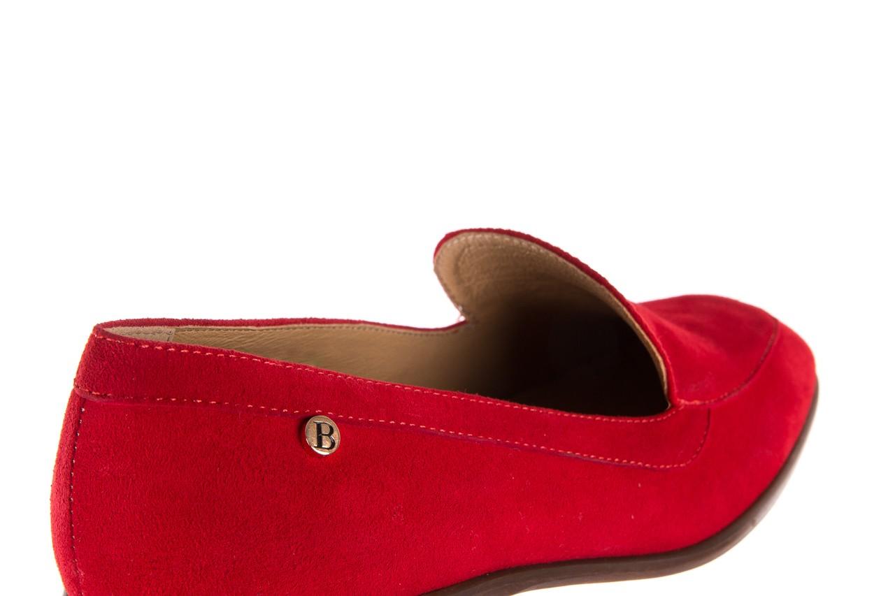 Półbuty bayla-156 3320 czerwony welur, skóra naturalna  - bayla - nasze marki 17