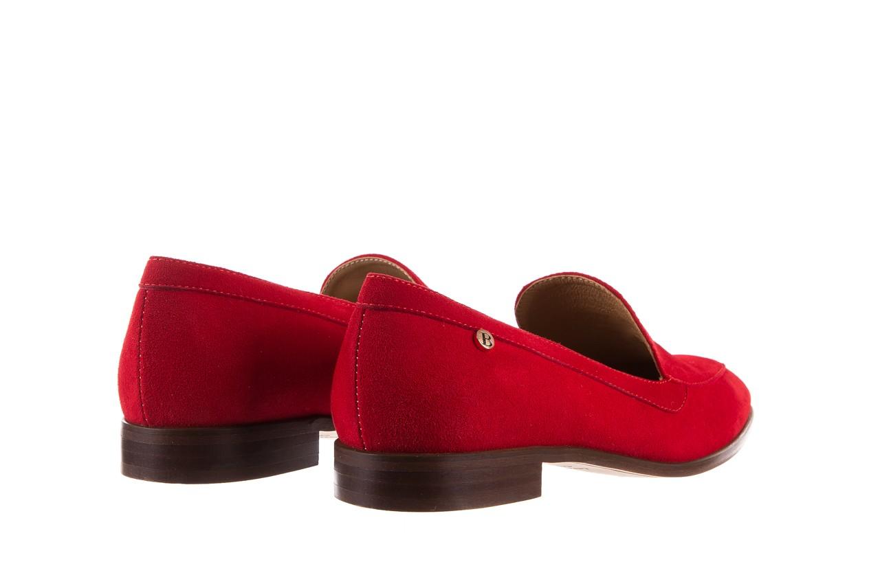 Półbuty bayla-156 3320 czerwony welur, skóra naturalna  - bayla - nasze marki 14