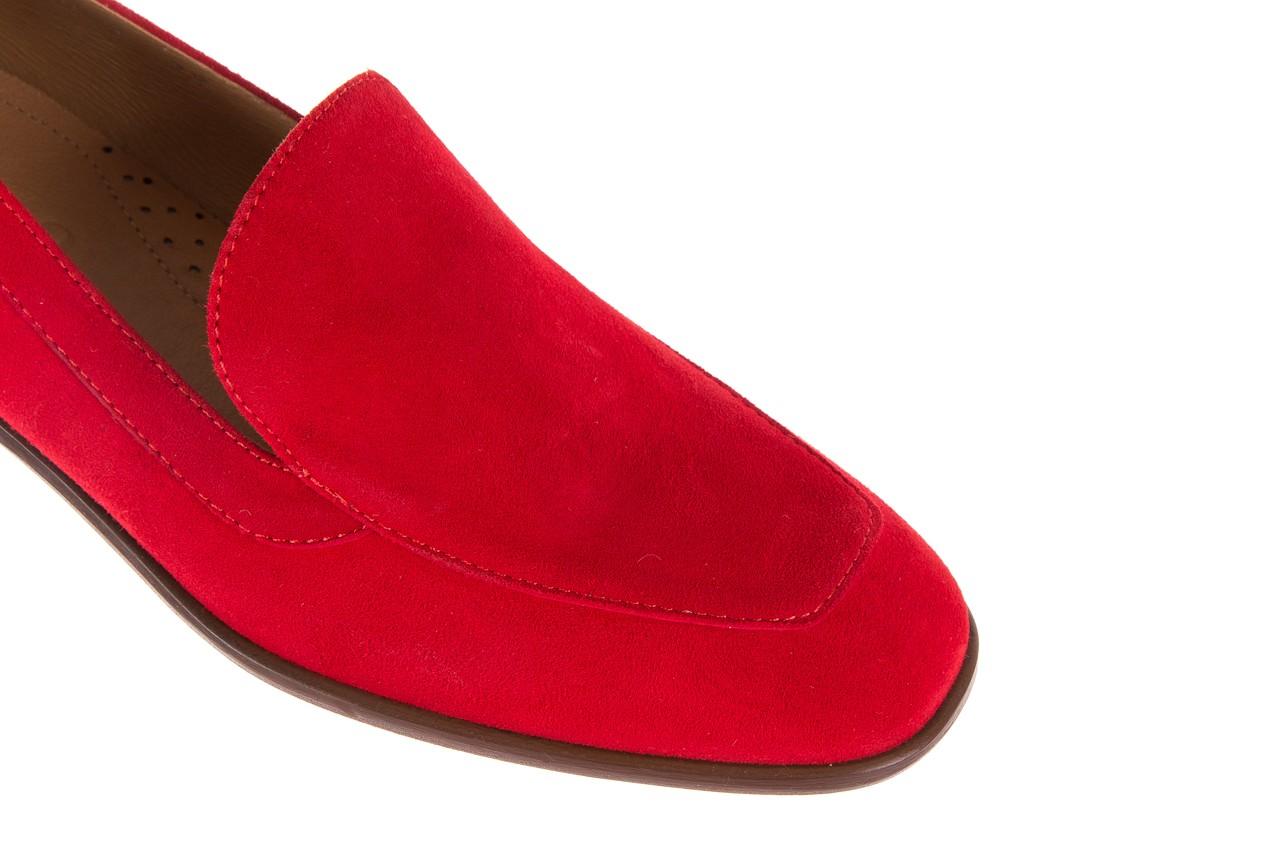 Półbuty bayla-156 3320 czerwony welur, skóra naturalna  - bayla - nasze marki 16