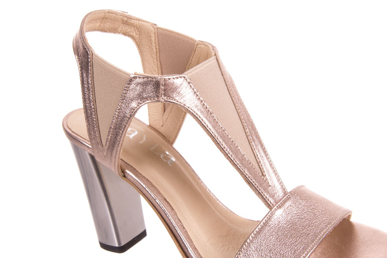 Sandały bayla-157 b005-091-b złoty-róż, skóra naturalna 11