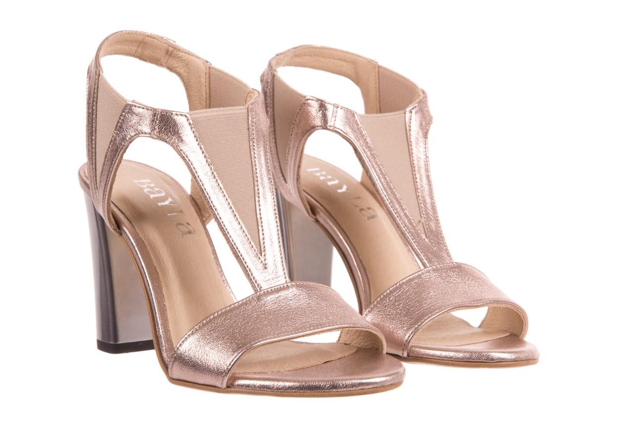 Sandały bayla-157 b005-091-b złoty-róż, skóra naturalna 8