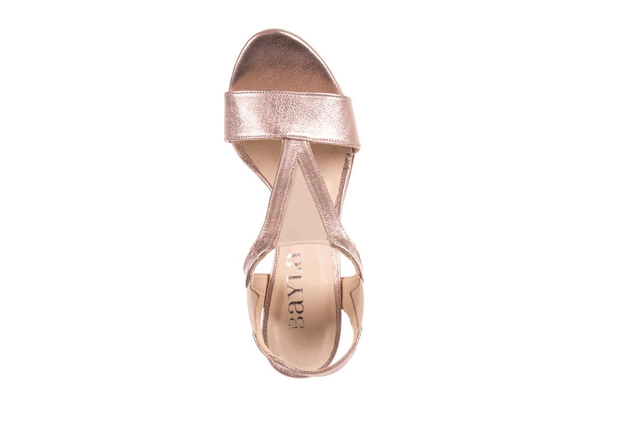 Sandały bayla-157 b005-091-b złoty-róż, skóra naturalna 13