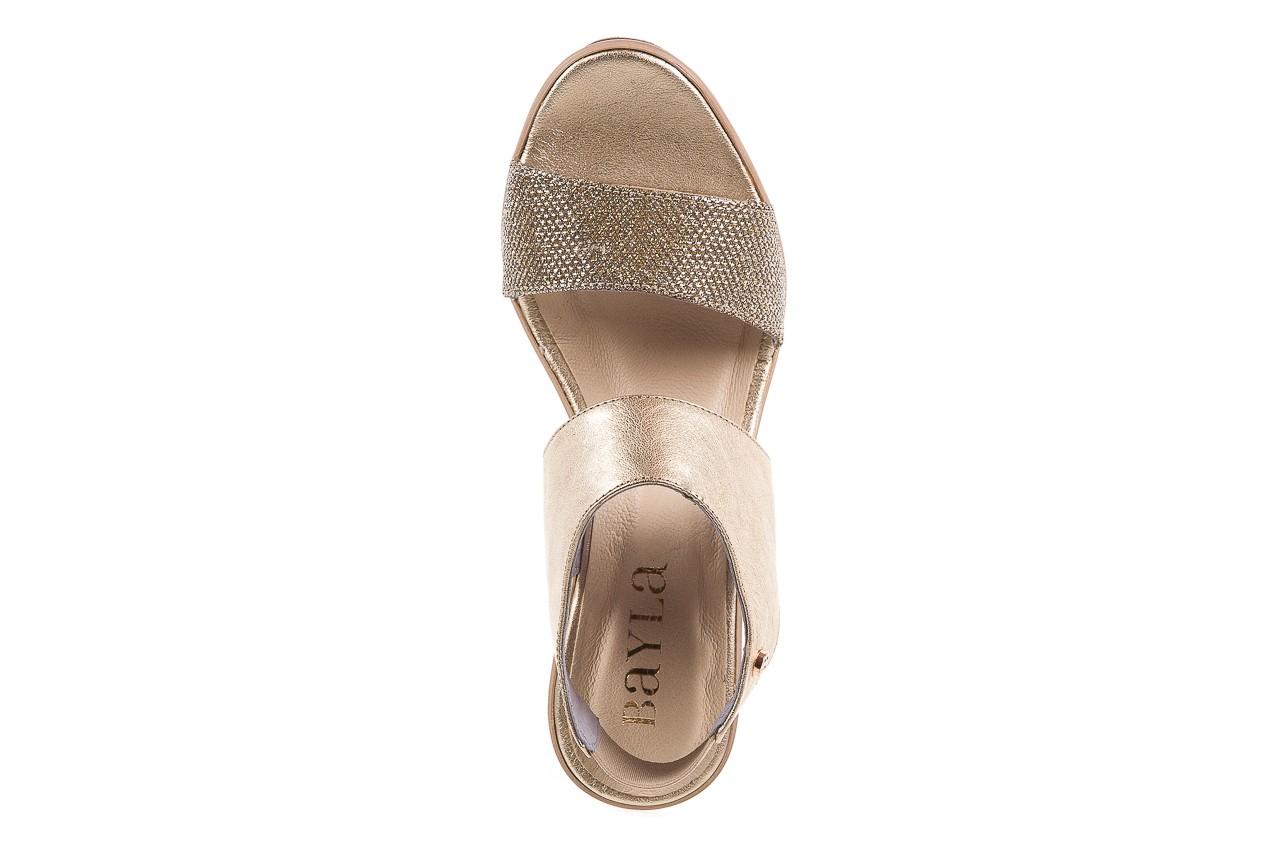 Sandały bayla-157 b007-074-b złoty 157013, skóra naturalna  - bayla - nasze marki 11