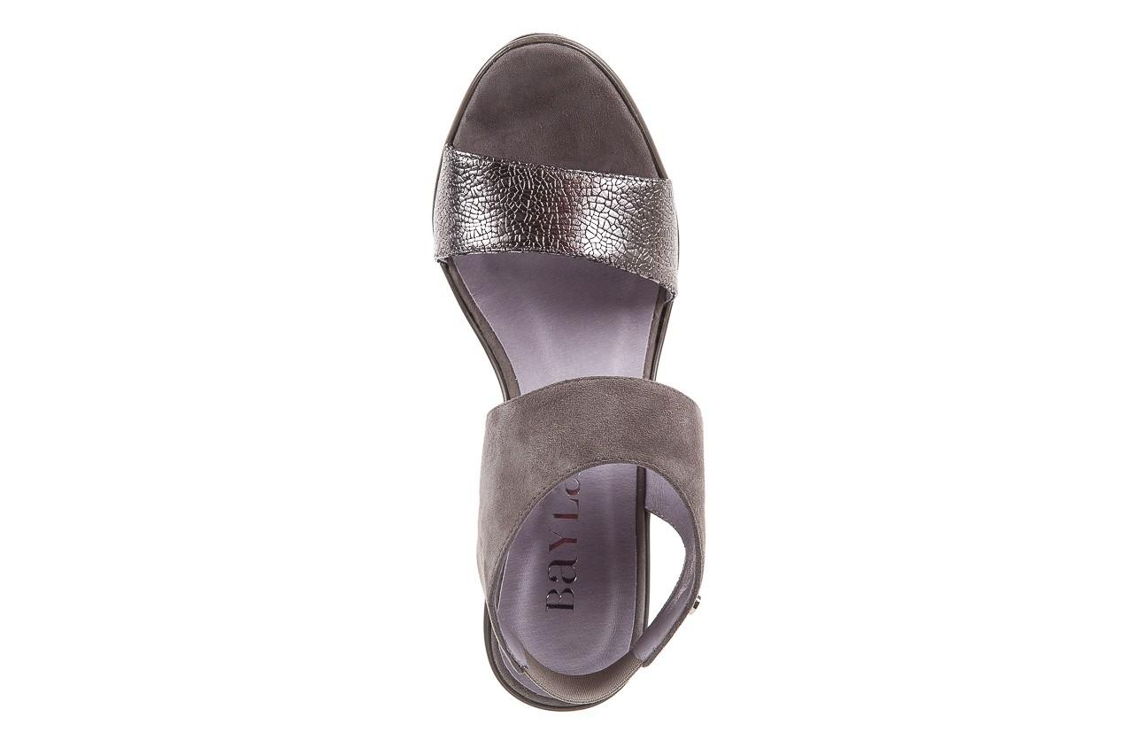 Sandały bayla-157 b007-127-b szary, skóra naturalna 11