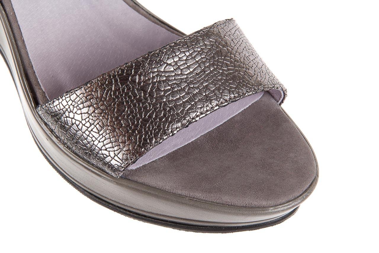 Sandały bayla-157 b007-127-b szary, skóra naturalna 12