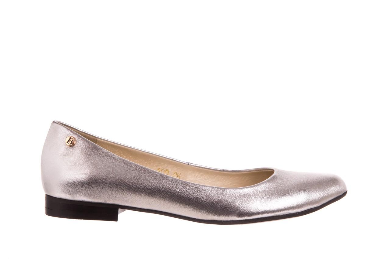 Baleriny bayla-160 100a srebrny, skóa naturalna  - ślubne - baleriny - buty damskie - kobieta 5