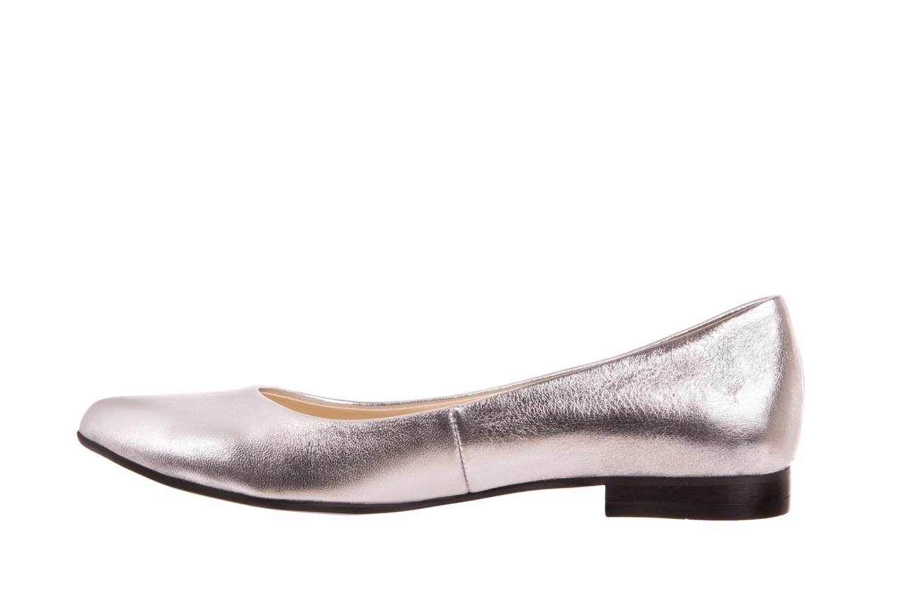 Baleriny bayla-160 100a srebrny, skóa naturalna  - ślubne - baleriny - buty damskie - kobieta 7