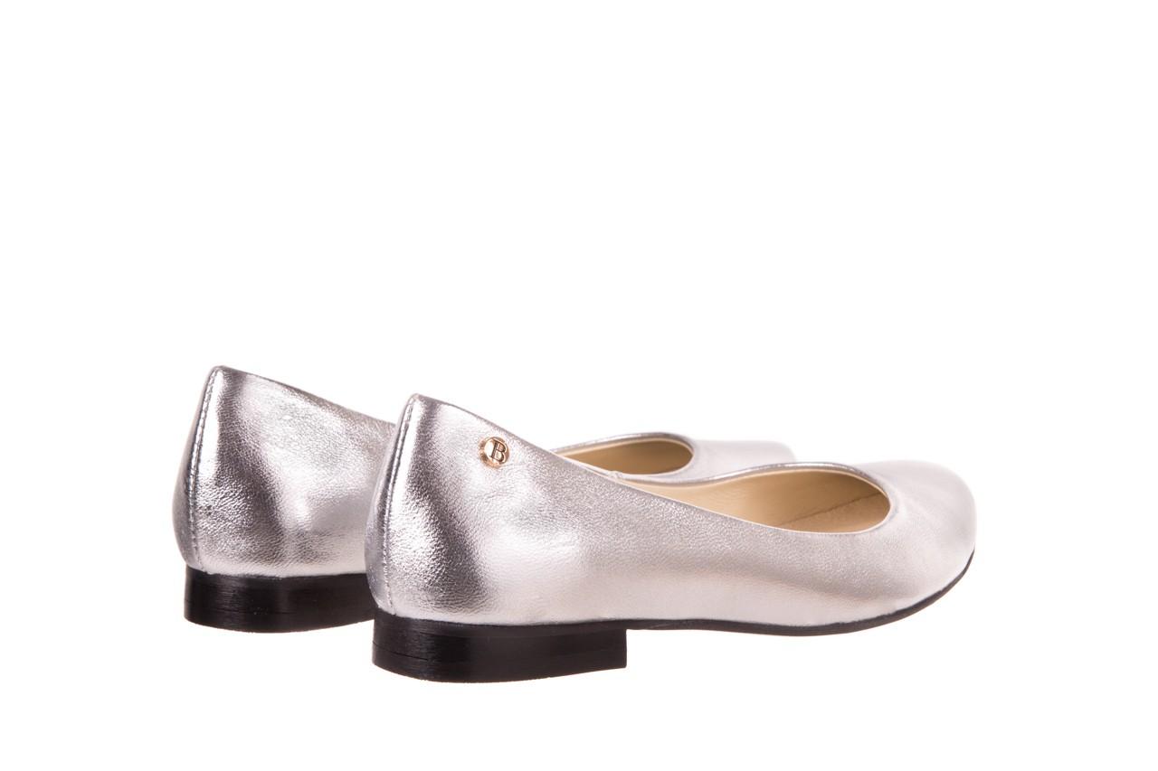 Baleriny bayla-160 100a srebrny, skóa naturalna  - ślubne - baleriny - buty damskie - kobieta 8