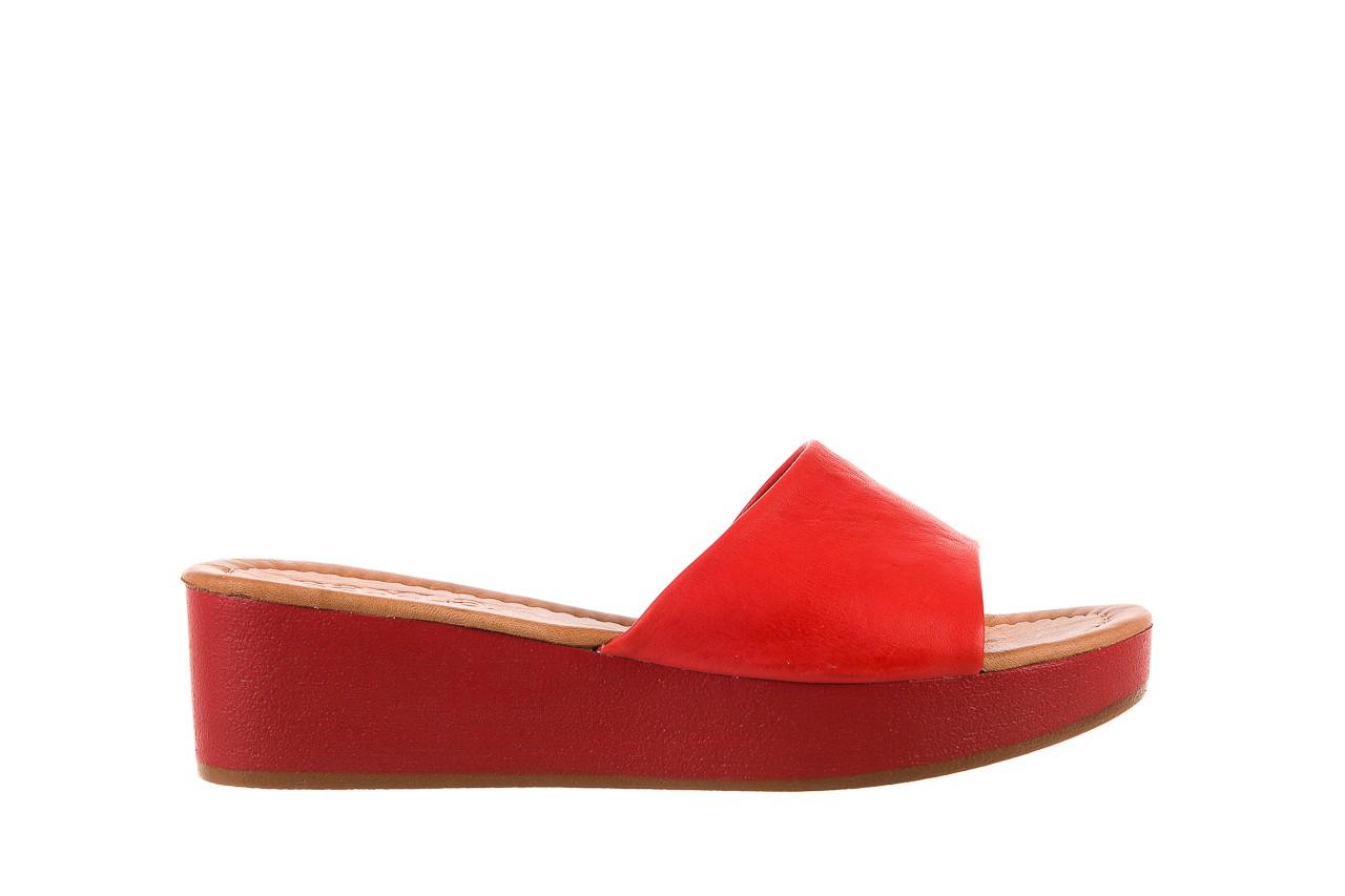 Klapki bayla-161 001-10 red, czerwony, skóra naturalna  - bayla - nasze marki 6