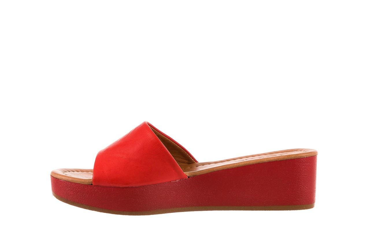 Klapki bayla-161 001-10 red, czerwony, skóra naturalna  - bayla - nasze marki 8
