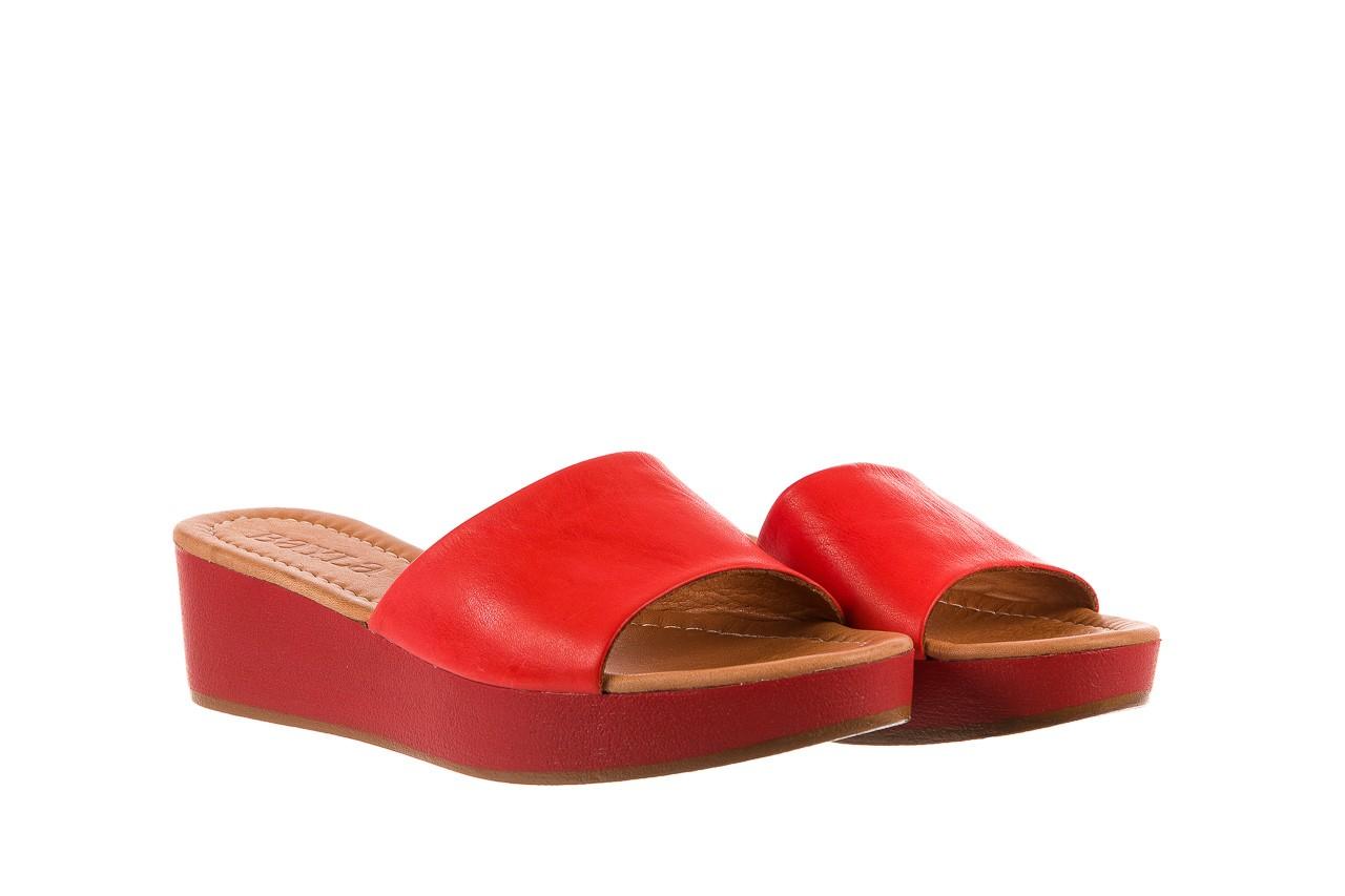 Klapki bayla-161 001-10 red, czerwony, skóra naturalna  - bayla - nasze marki 7