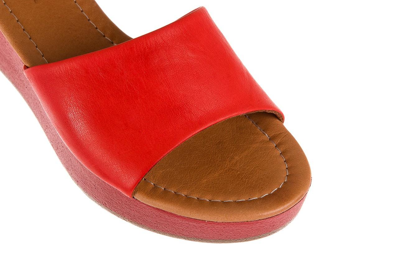 Klapki bayla-161 001-10 red, czerwony, skóra naturalna  - bayla - nasze marki 11