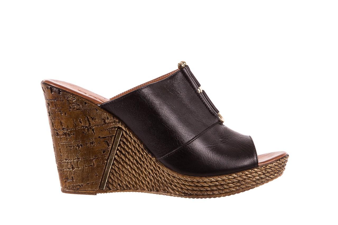 Klapki bayla-161 020-75 black, czarny, skóra naturalna - na koturnie - klapki - buty damskie - kobieta 7