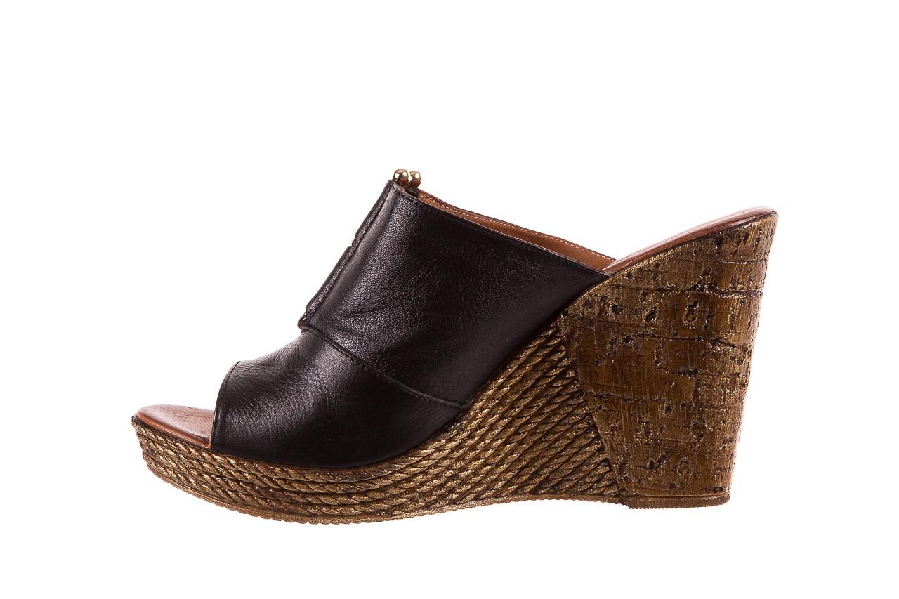Klapki bayla-161 020-75 black, czarny, skóra naturalna - na koturnie - klapki - buty damskie - kobieta 9