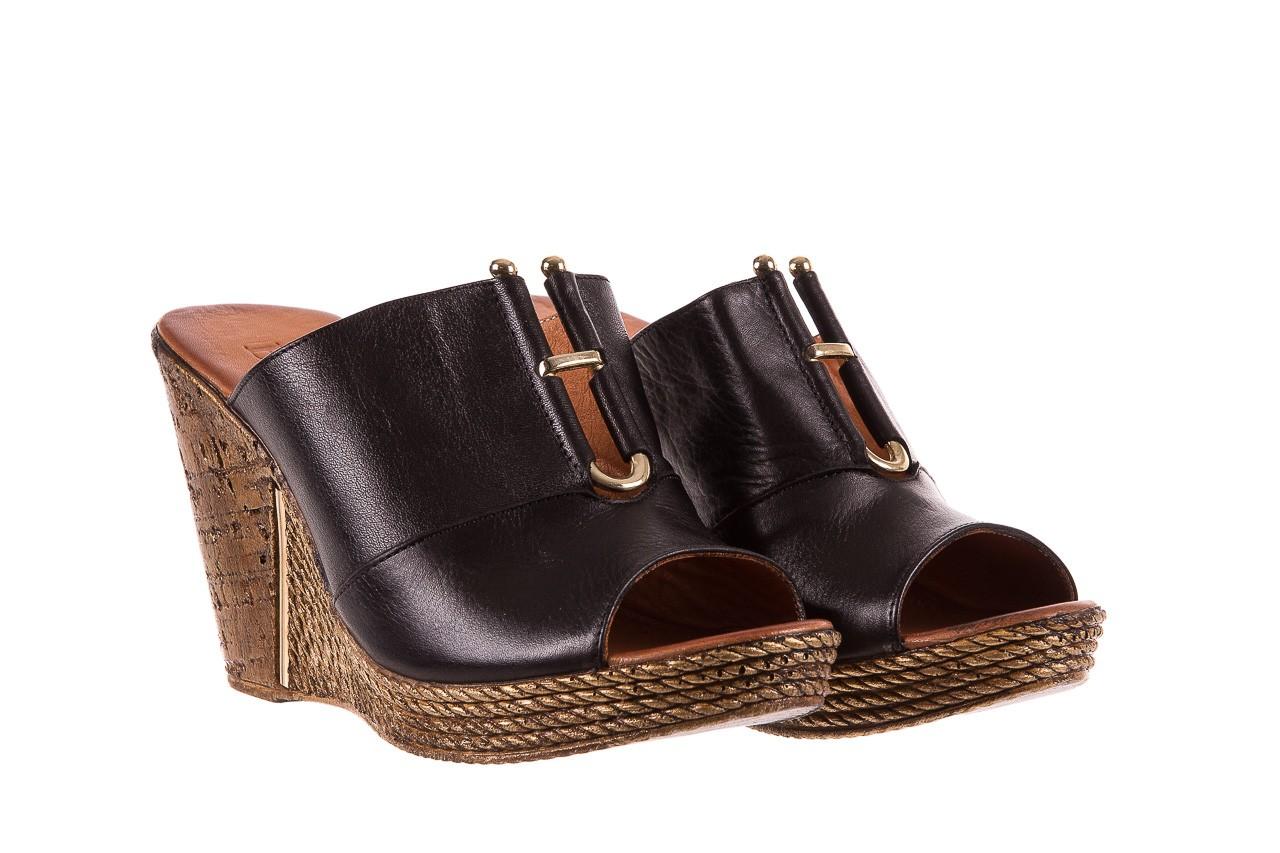 Klapki bayla-161 020-75 black, czarny, skóra naturalna - na koturnie - klapki - buty damskie - kobieta 8