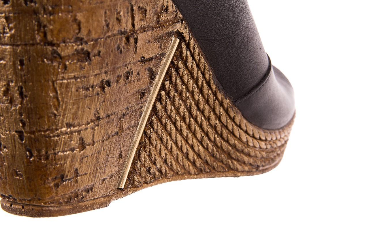Klapki bayla-161 020-75 black, czarny, skóra naturalna - na koturnie - klapki - buty damskie - kobieta 13