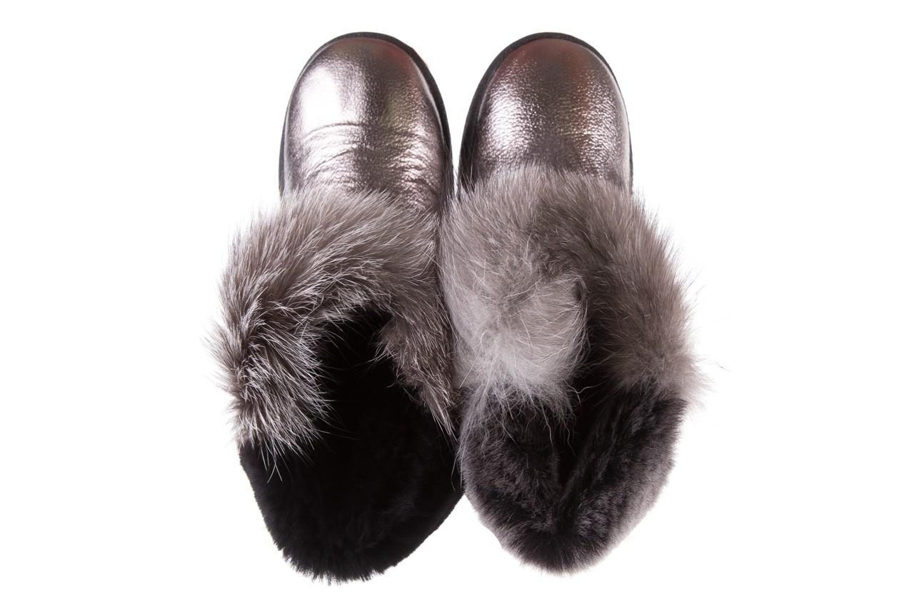 Śniegowce bayla-161 7060 srebrne śniegowce, skóra naturalna  - śniegowce i kalosze - dla niej  - sale 13