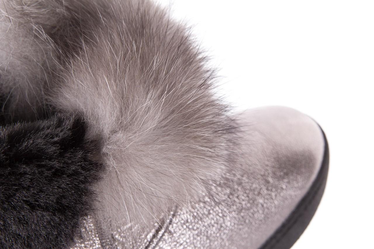 Śniegowce bayla-161 7060 srebrne śniegowce, skóra naturalna  - śniegowce i kalosze - dla niej  - sale 15
