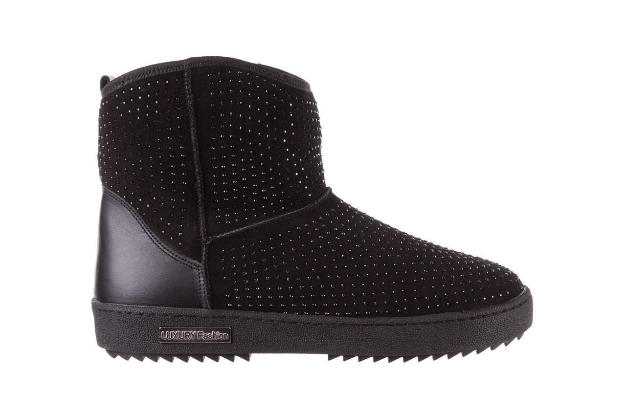 Śniegowce bayla-161 7063 czarne, skóra naturalna zamszowa - skórzane - botki - buty damskie - kobieta 9
