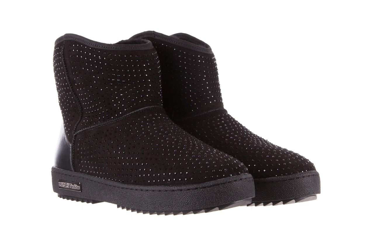 Śniegowce bayla-161 7063 czarne, skóra naturalna zamszowa - skórzane - botki - buty damskie - kobieta 10