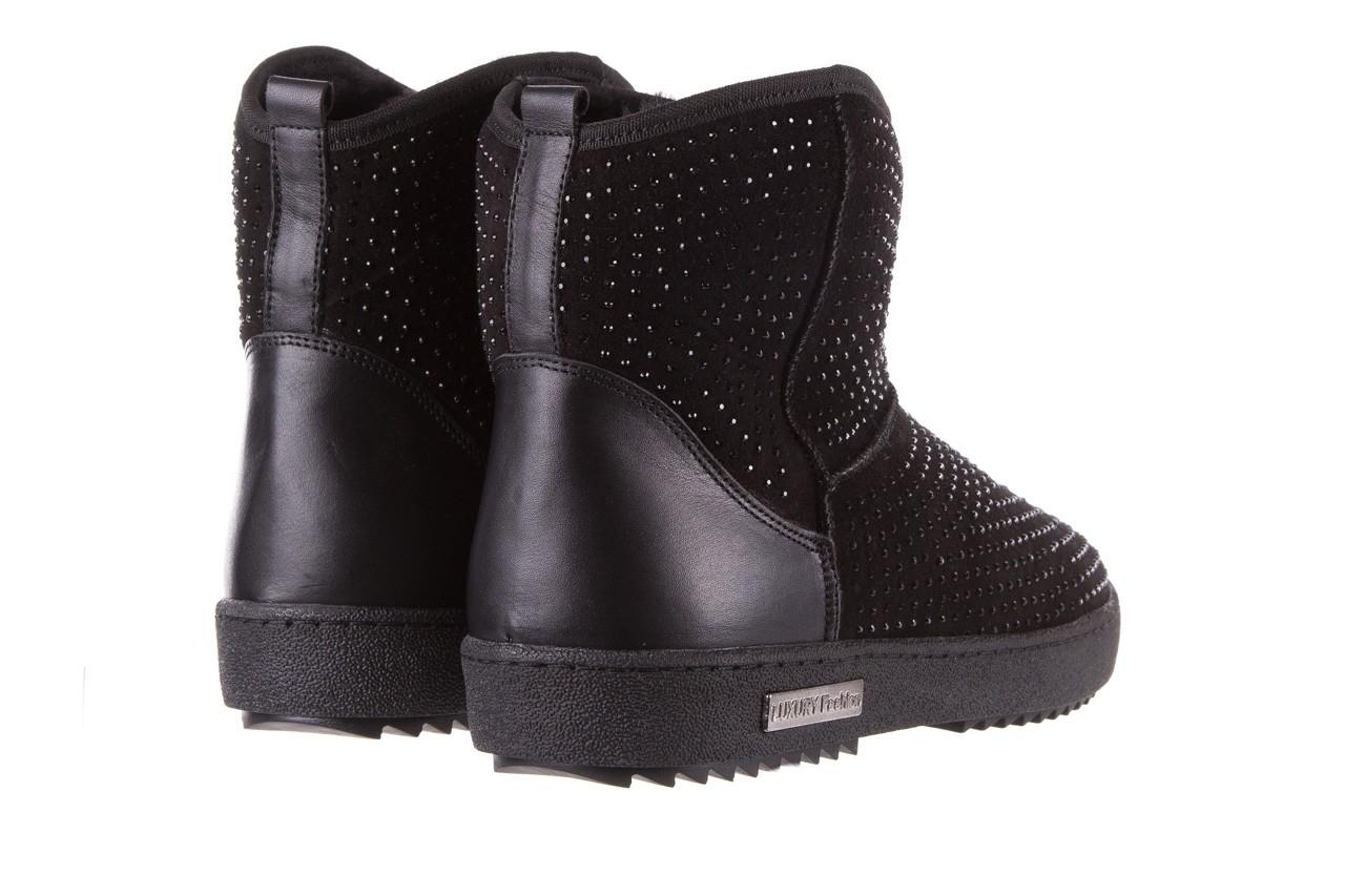 Śniegowce bayla-161 7063 czarne, skóra naturalna zamszowa - skórzane - botki - buty damskie - kobieta 12