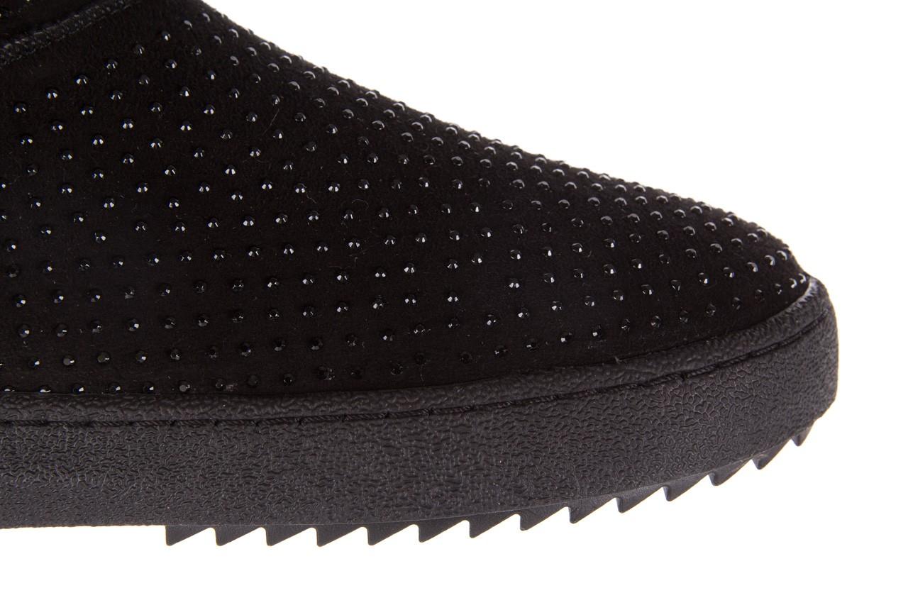 Śniegowce bayla-161 7063 czarne, skóra naturalna zamszowa - skórzane - botki - buty damskie - kobieta 16