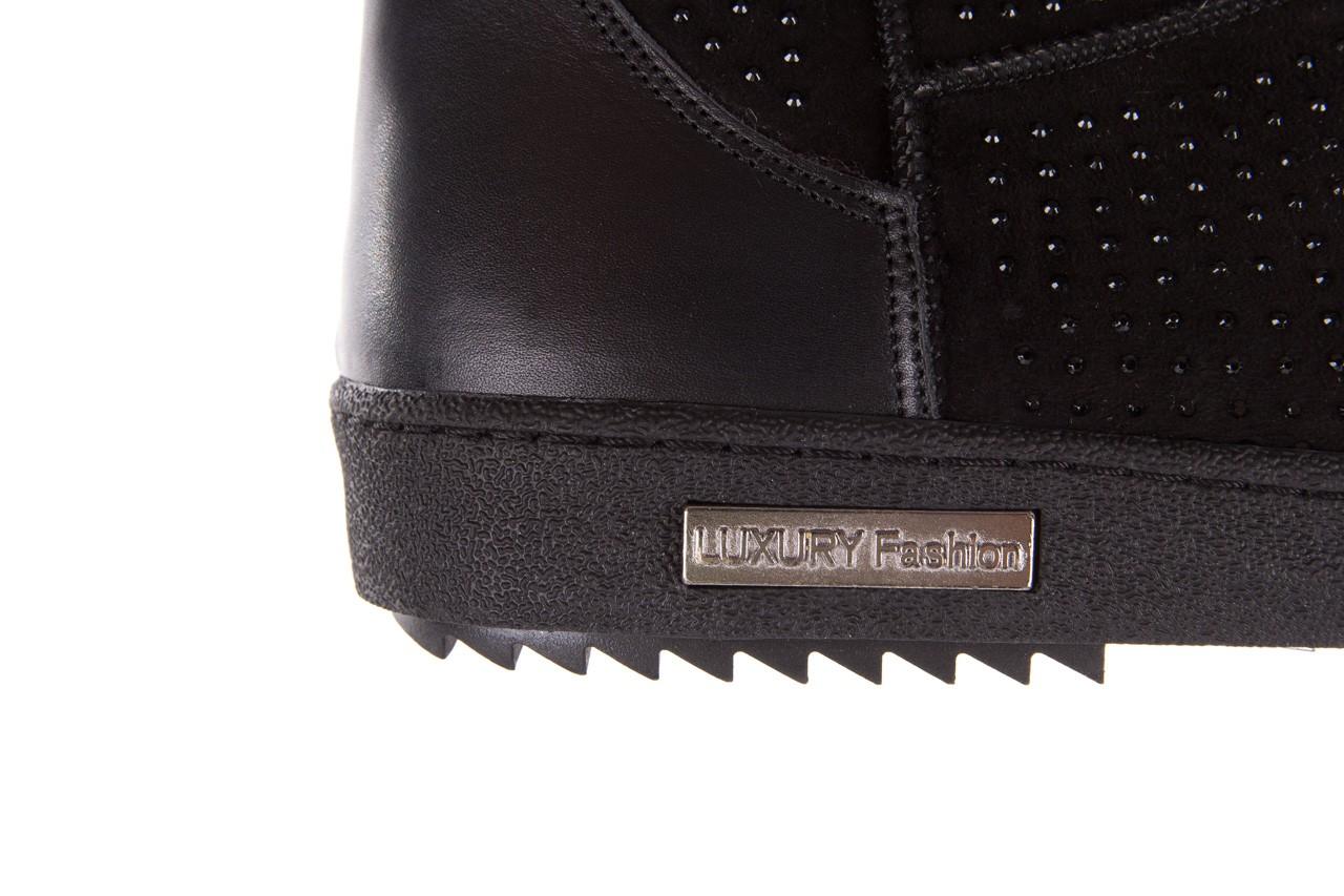 Śniegowce bayla-161 7063 czarne, skóra naturalna zamszowa - skórzane - botki - buty damskie - kobieta 17