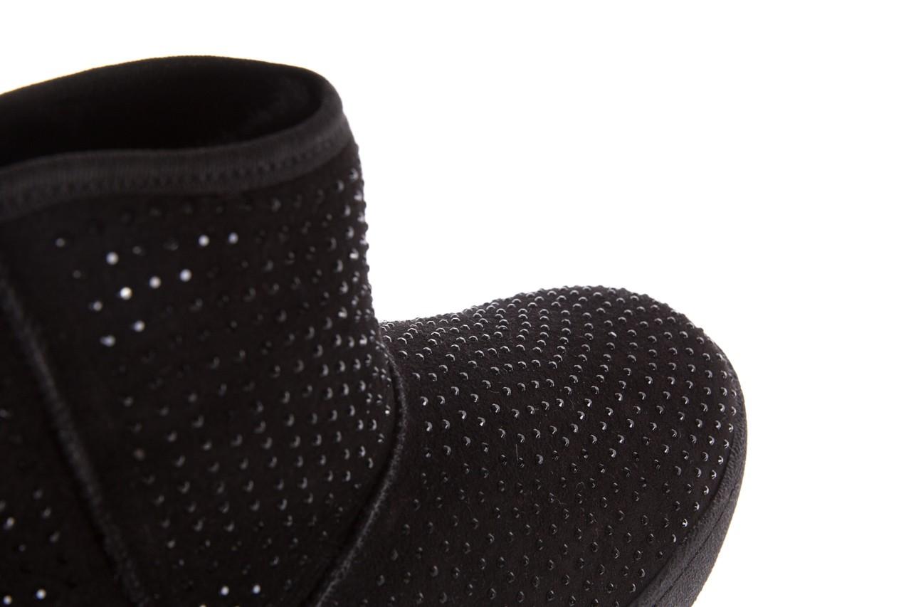 Śniegowce bayla-161 7063 czarne, skóra naturalna zamszowa - skórzane - botki - buty damskie - kobieta 15