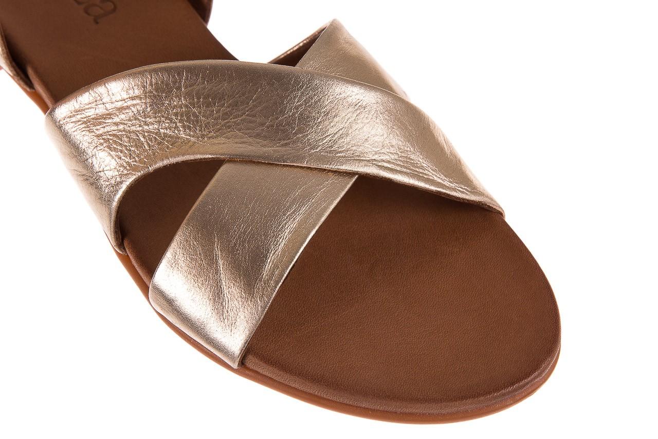 Sandały bayla-163 17-116 gold, złoty, skóra naturalna 11