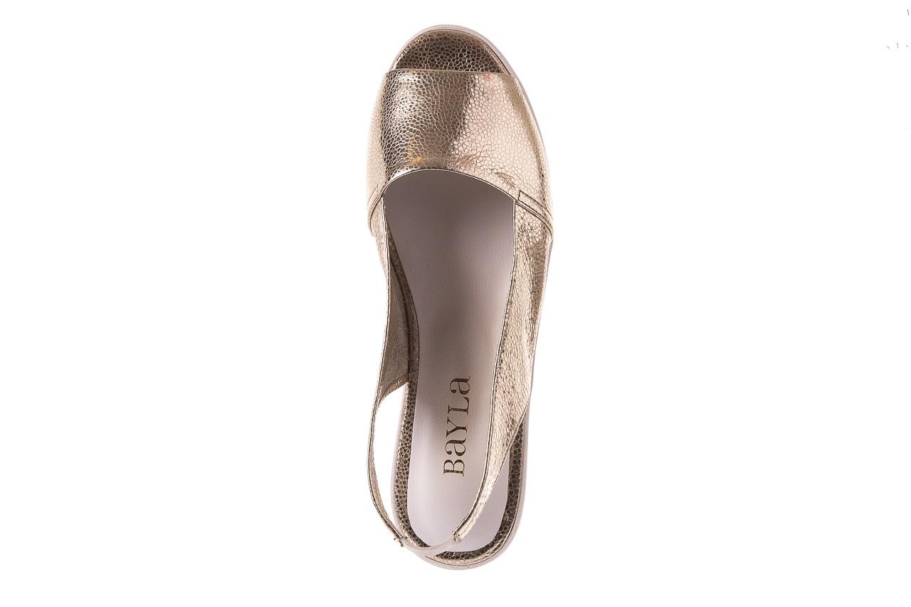 Sandały bayla-163 319-310 386 gold, złoty, skóra naturalna 10