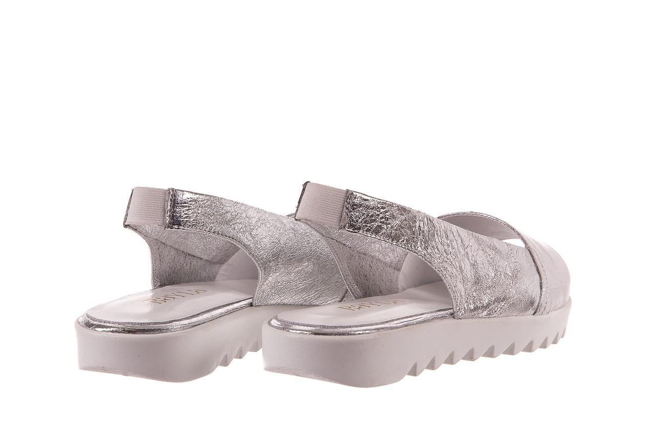 Sandały bayla-163 319-310 614 silver, srebrny, skóra naturalna  - sandały - dla niej - dodatkowe -10% 9