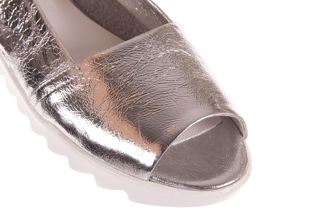 Sandały bayla-163 319-310 614 silver, srebrny, skóra naturalna  - sandały - dla niej - dodatkowe -10% 11