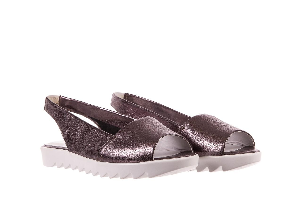 Sandały bayla-163 319-310 627 grey metallic, szary, skóra naturalna 7