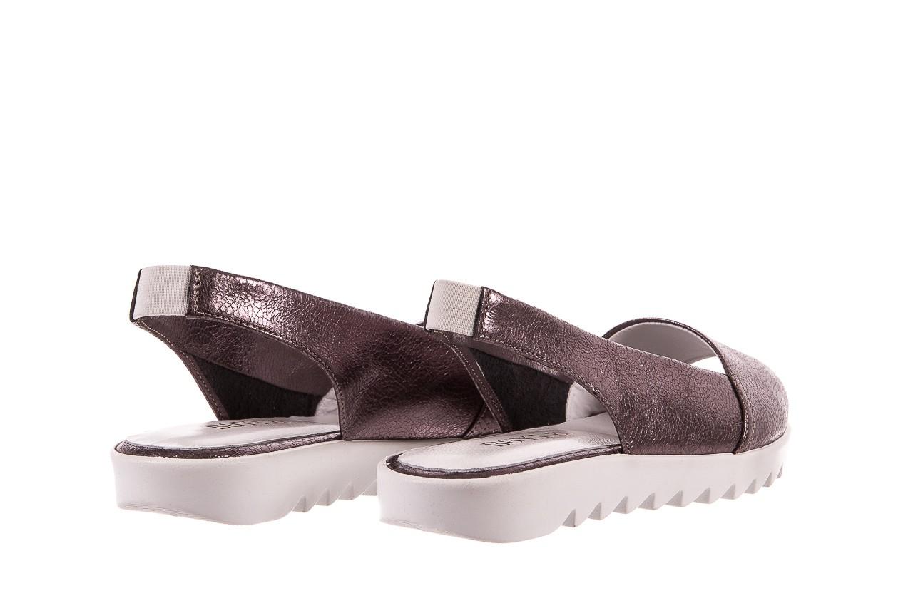 Sandały bayla-163 319-310 627 grey metallic, szary, skóra naturalna 9